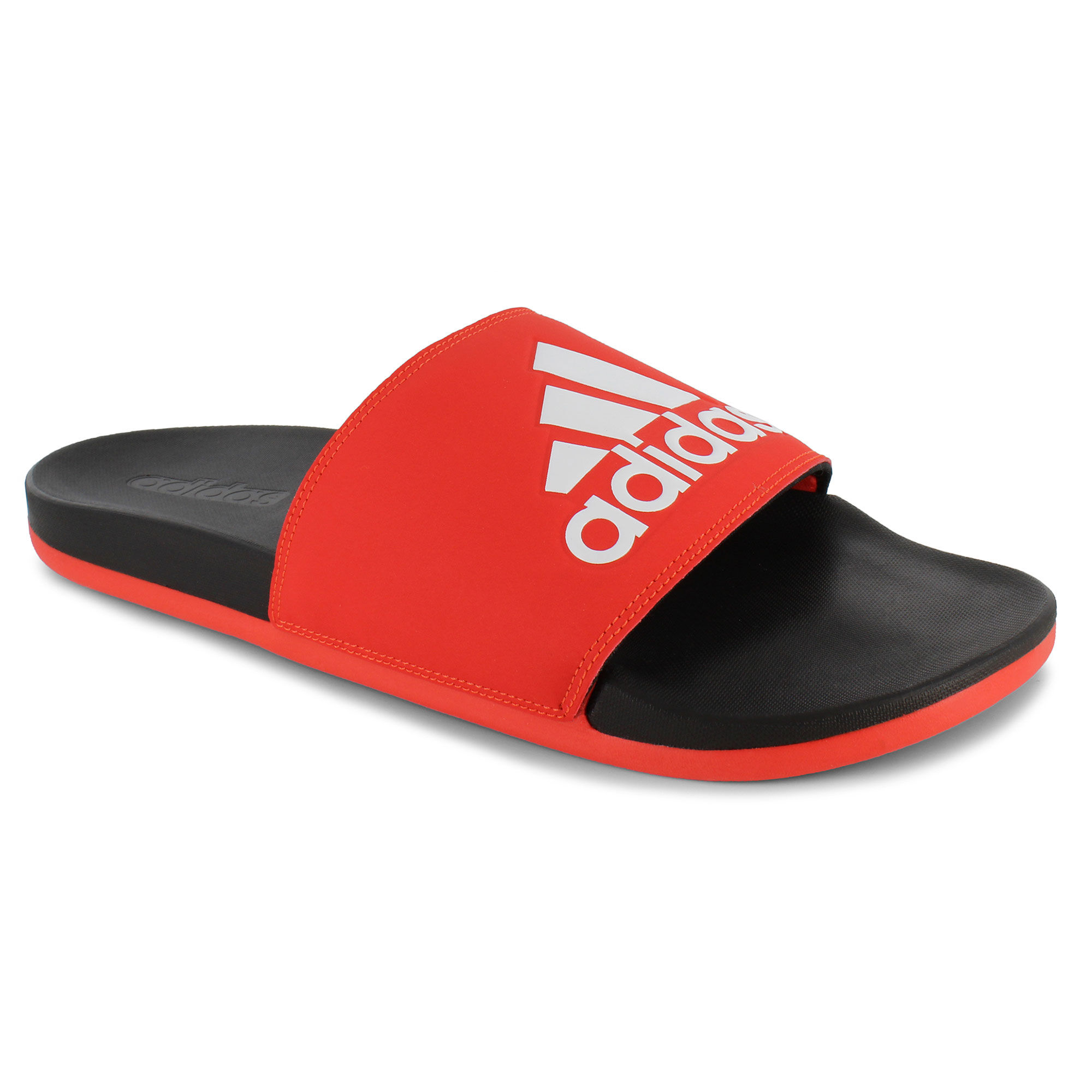 adidas cloudfoam slides red