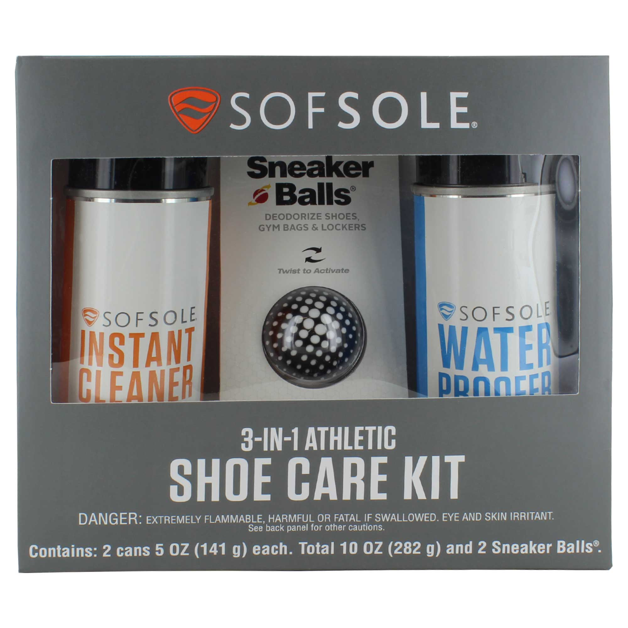 SOF SOLE® 3-In-1 Athletic Shoe Care Kit